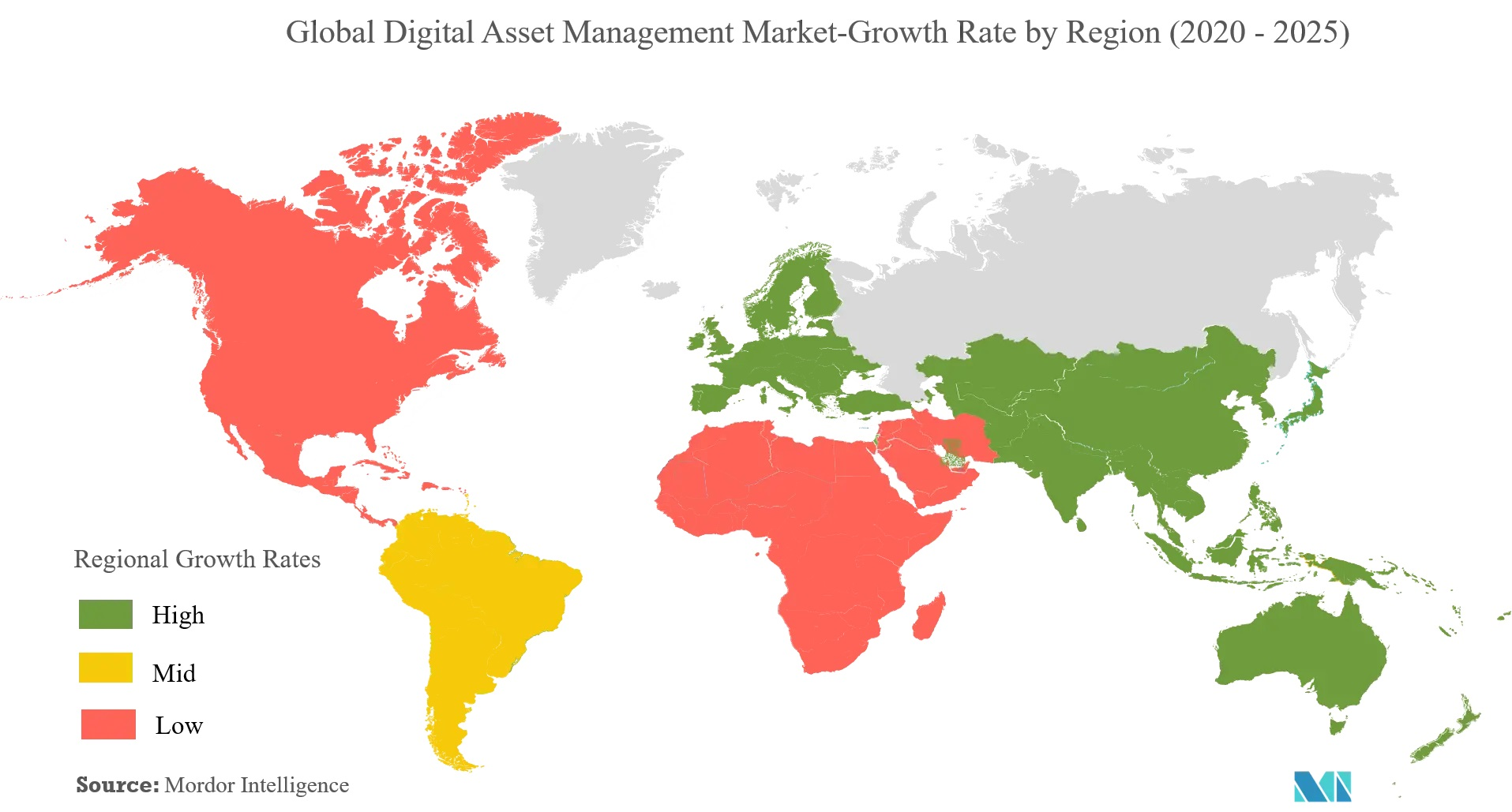 DAM market growth rate